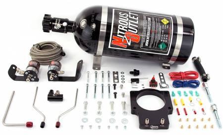 Nitrous Outlet - Nitrous Outlet 00-10122-92-12 -  92mm Fast Intake 97-04 Corvette Hardline Plate System (50-200HP) (12lb Bottle)