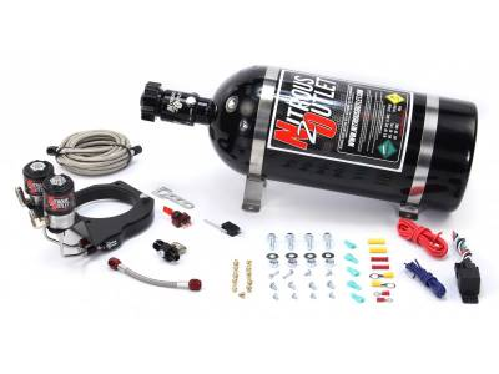 Nitrous Outlet - Nitrous Outlet 00-10181-12 -  2003-2013 FAST 102mm Truck Intake Hardline Plate System (50-200HP) (12LB Bottle)