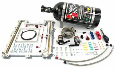 Nitrous Outlet - Nitrous Outlet 00-10174-15 -  ZL1 LSA Blower Plate system (100-300HP) (15Lb Bottle) (55 PSI)