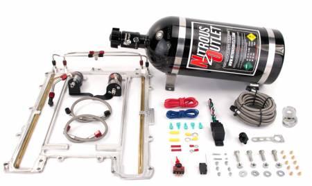 Nitrous Outlet - Nitrous Outlet 00-10172-15 -  LS9 Blower Plate system (100-300HP) (15Lb Bottle) (55 PSI)