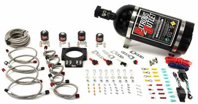 Nitrous Outlet - Nitrous Outlet 00-10109-00 -  90mm LSX Dual Stage Plate System (50-200HP) (No Bottle) ( For 97-04 Corvette part # 00-42000 is needed )