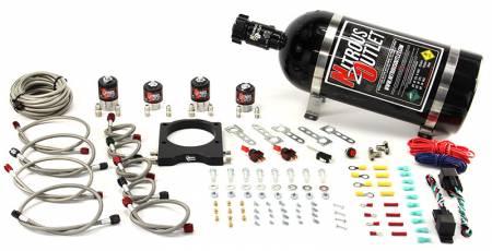 Nitrous Outlet - Nitrous Outlet 00-10116-10 -  102mm LSX Dual Stage Plate System (50-200HP) (10lb Bottle)( For 97-04 Corvette part # 00-42000 is needed )