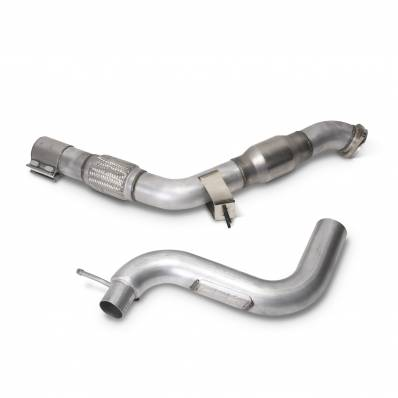 """BBK Performance Parts - BBK Performance Parts 1809 - 2015-17 Mustang Ecoboost 3"""" High Flow Catted Down Pipe"""