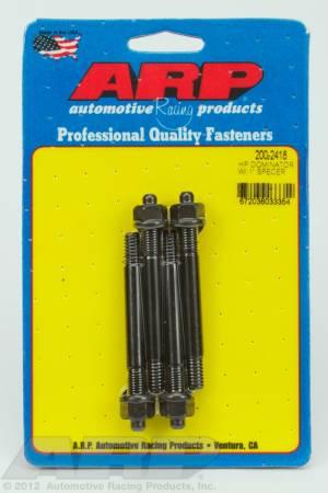 "ARP - ARP 200-2418 - HP Dominator carb stud kit, w/ 1"" spacer"