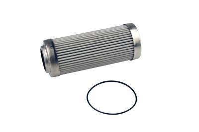 """Aeromotive Fuel System - Aeromotive Fuel System 12639 - Replacement Element, 10-m Microglass, for 12339/12341 Filter Assembly, Fits All 2-1/2"""" OD Filter Housings, For Gas and Alcohol Fuels"""