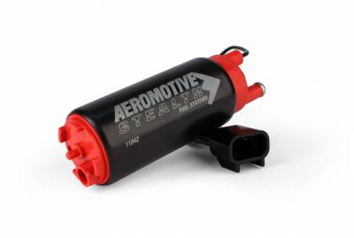 Aeromotive Fuel System - Aeromotive Fuel System 11542 - Fuel Pump, E85, Offset Inlet - Inlet inline w/ outlet, 340lph (This item will supersede P/N 11142)