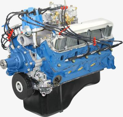 BluePrint Engines - BluePrint Engines BP3024CTC - Small Block Ford 302ci dressed crate engine with cast iron cylinder heads & Roller Cam