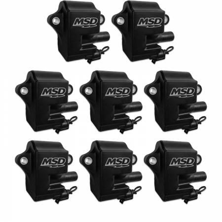 MSD - MSD 828583 - Black Pro Power GM LS1/LS6 Coils, 8-Pack