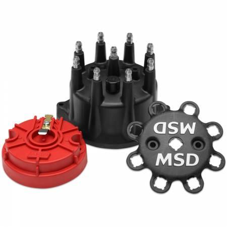 MSD - MSD 84317 - Black Small Diameter Cap and Rotor Kit