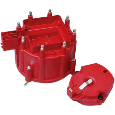 MSD - MSD 8416 - Distributor Cap and Rotor; GM HEI Dist., Red