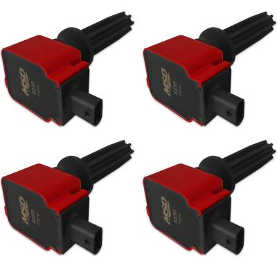 MSD - MSD 82594 - Ford Red EcoBoost 4-Pack Coils 2.0L/2.3L