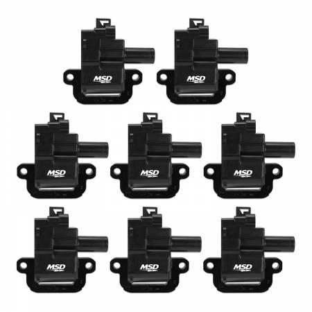 MSD - MSD 826283 - MSD Black GM LS1/LS6 8-Pack Coils, '98-'06