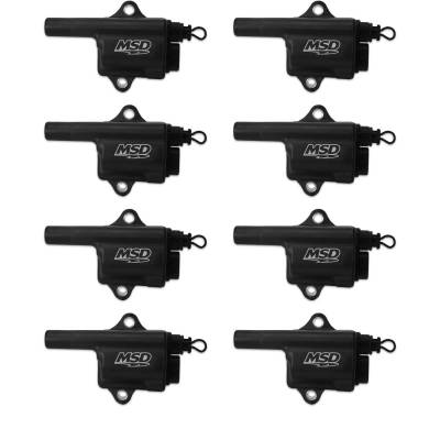 MSD - MSD 828683 - MSD Black Pro Power GM LS Truck Style 8-Pack Coils