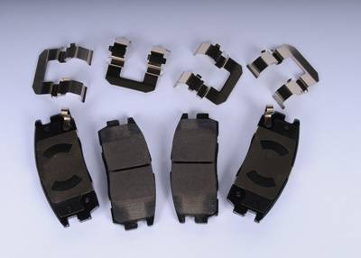 ACDelco - ACDelco GM Original Equipment Rear Disc Brake Pad Kit with Brake Pads and Clips 171-1011