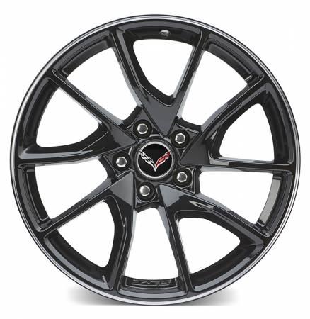 "GM Accessories - GM Accesssories 23251387 - ""6Z9"" Gloss Black 19"" Front Wheel For C7 Z06 & Grand Sport"