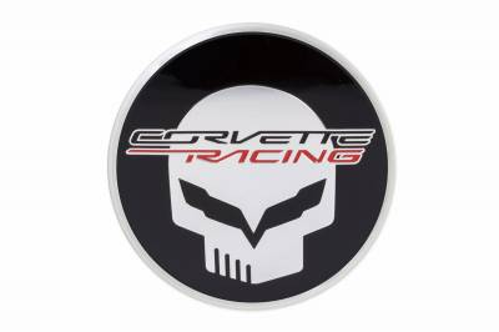 "GM Accessories - GM Accessories 19301417 - Wheel Center Cap for C7 Corvettes - Black with Corvette Racing ""Jake"" Logo"