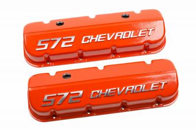 "Chevrolet Performance - Chevrolet Performance 12499200 - ""572 Chevrolet"" Valve Covers for BBC"