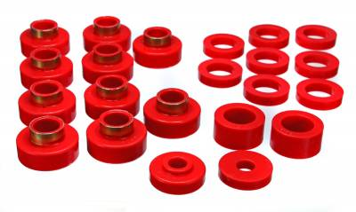 Energy Suspension - Energy Suspension 2.4102R - CJ BODY MOUNT SET