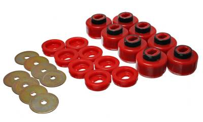 Energy Suspension - Energy Suspension 3.4150R - CHEVY BODY MOUNT SET