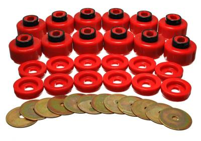 Energy Suspension - Energy Suspension 3.4156R - BODY MOUNT SET