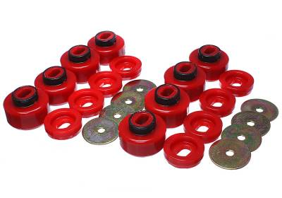 Energy Suspension - Energy Suspension 3.4162R - BODY MOUNT SET