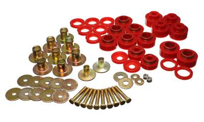 Energy Suspension - Energy Suspension 3.4170R - BODY MOUNT SET WITH HARDWARE