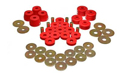Energy Suspension - Energy Suspension 5.4102R - BODY MOUNT BUSHING SETS