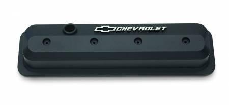 Chevrolet Performance - Chevrolet Performance 19351534 - Black Slant-Edge Valve Covers for SBC