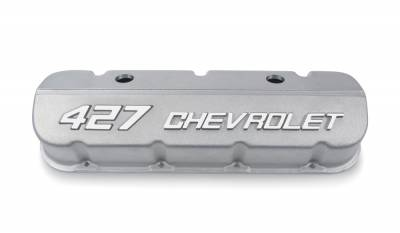 Chevrolet Performance - Chevrolet Performance 19202588 - 427 Chevrolet Valve Covers for BBC - Natural Appearance