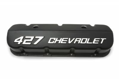"Chevrolet Performance - Chevrolet Performance 19202589 - ""427 Chevrolet"" Valve Covers for BBC - Black Powder-Coat"