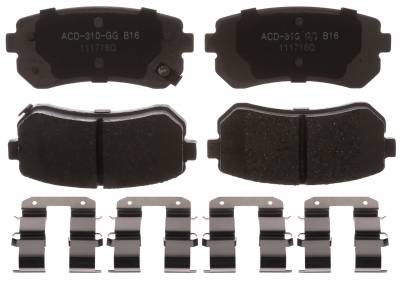 ACDelco - ACDelco Advantage Ceramic Disc Brake Pads 14D1157CHF1