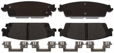 ACDelco - ACDelco Specialty Performance (Fleet/Police) Semi Metallic Rear Disc Brake Pad Set 17D1707MHPV