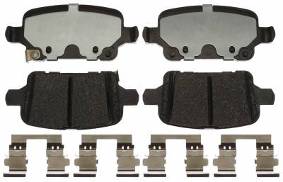 ACDelco - ACDelco Professional Ceramic Rear Disc Brake Pad Set 17D1857CH