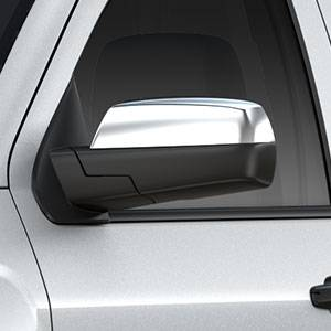GM Accessories - GM Accessories 22913965 - Outside Rearview Mirror Covers in Chrome [2014-19 Silverado]