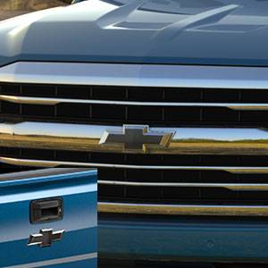 GM Accessories - GM Accessories 84346558 - Front and Rear Bowtie Emblems in Black [2014-19 Silverado]
