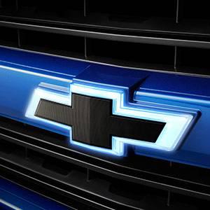 GM Accessories - GM Accessories 84518365 - Front Illuminated and Rear Non-Illuminated Bowtie Emblems in Black [2016-19 Silverado]