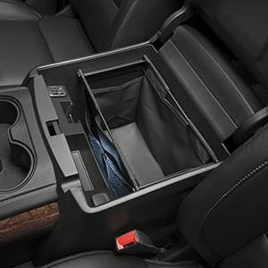 GM Accessories - GM Accessories 22926859 - Front Center Console Organizer in Black with Removable Tote