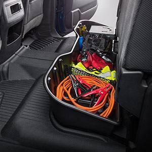GM Accessories - GM Accessories 23183674 - Crew Cab Underseat Storage Compartment in Black [2013+ Silverado]