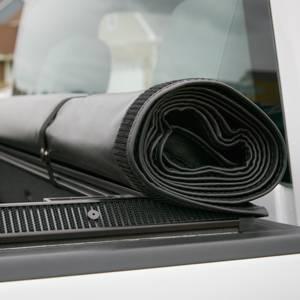 GM Accessories - GM Accessories 22772362 - Standard Box Soft Roll-Up Tonneau Cover in Black with Bowtie Logo [2014-19 Silverado]