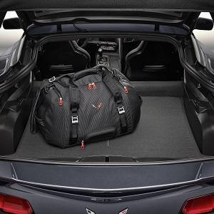 GM Accessories - GM Accessories 23152911 - 70L Duffel Bag in Jet Black with Crossed Flags Logo [C7 Corvette]