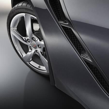 GM Accessories - GM Accessories 22935635 - Front Molded Splash Guards in Black [C7 Corvette]