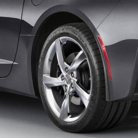 GM Accessories - GM Accessories 22935639 - Rear Molded Splash Guards in Black [C7 Corvette]