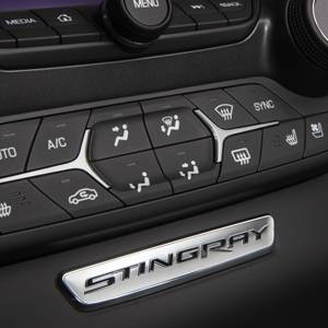 GM Accessories - GM Accessories 23138326 - Instrument Panel Emblem in Chrome with Stingray Script [C7 Corvette]