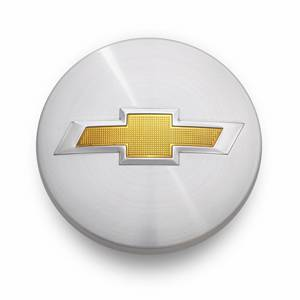 GM Accessories - GM Accessories 19301595 - Center Cap in Brushed Aluminum Finish with Bowtie Logo