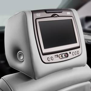 GM Accessories - GM Accessories 23139996 - Rear-Seat Entertainment System with DVD Player in Titanium Leather [2014-17 Enclave]