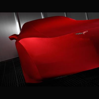 GM Accessories - GM Accessories 19158374 - Premium Indoor Car Cover in Red with Crossed Flags Logo [C6 Corvette]
