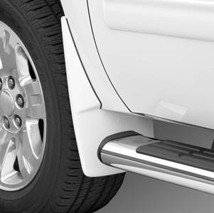 GM Accessories - GM Accessories 19212804 -  Front Molded Splash Guards in White