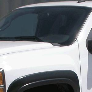 GM Accessories - GM Accessories 19299829 - Standard and Long Box Slim Look Fender Flare Set by EGR in Black [2013-14 Silverado]