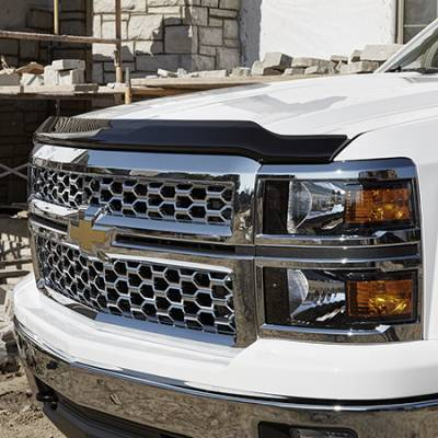 GM Accessories - GM Accessories 19329331 - Hood Protector by EGR in Smoke Black [2015-19 Silverado]