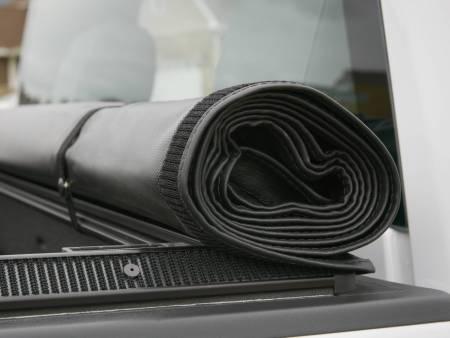 GM Accessories - GM Accessories 22772361 -  Short Box Soft Roll-Up Tonneau Cover in Black with Bowtie Logo [2014-18 Silverado]